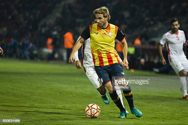 The Catalonia player Sergi Samper of Granada during the friendly football match between the selections of Catalonia vs Tunisia atthe stadium...