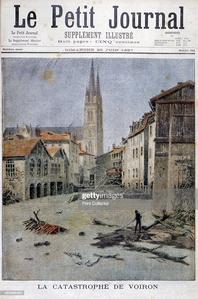 Voiron France  city pictures gallery : of Voiron, France, 1897. Flooding in the town of Voiron in the French ...