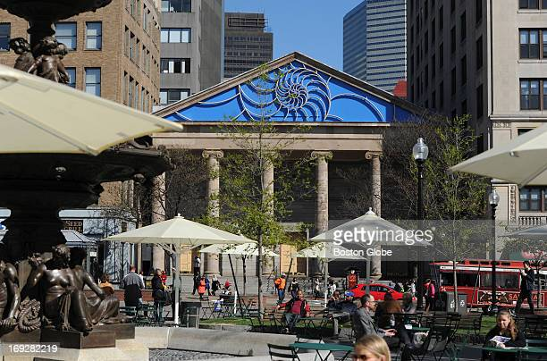 The Cathedral Church of St Paul Boston on Tremont Street across from the Boston Common recently unveiled a brandnew pediment with a Nautilus motif