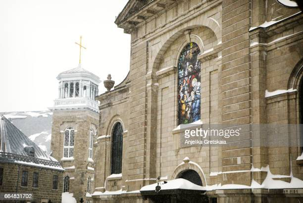 The Cathedral-minor basilica of Notre-Dame de Quebec  in Quebec City, Canada.