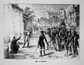 The Catholic and Royal army chief Charette is shot by therepublicans on March 29 1796 in Nantes France