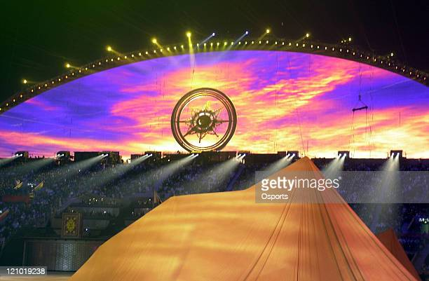 The Cauldron during the Closing Ceremony of the 15th Asian Games Doha 2006 at the Khalifa Stadium in Doha Qatar on December 15 2006 The Games which...