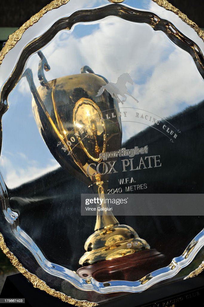 The Caulfield Cup is reflected in The Cox Plate at todays announcement of 2013 Spring Carnival nominations at Flemington Racecourse on August 6, 2013 in Melbourne, Australia.