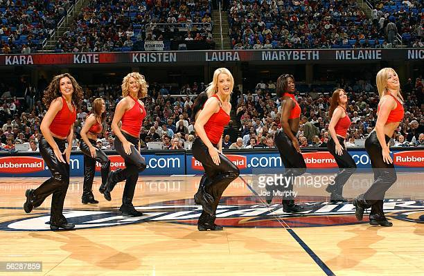 The Cavalier Girls perform during a break in the game between the Memphis Grizzlies and the Cleveland Cavaliers during the game on November 11 2005...