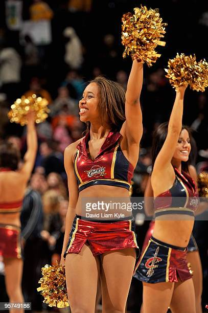 The Cavalier Girls perform during the game between the Houston Rockets against the Cleveland Cavaliers on December 27 2009 at Quicken Loans Arena in...