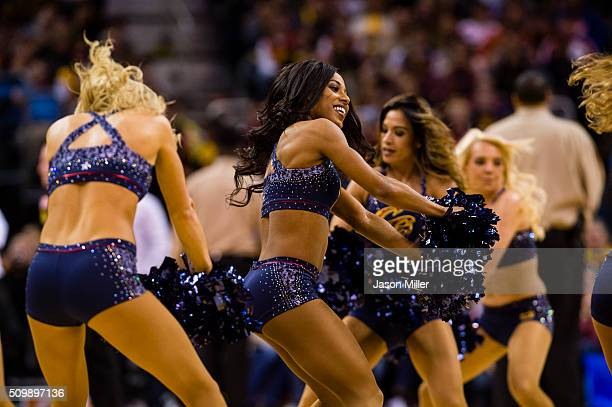 The Cavaliers Girls perform during the game between the Cleveland Cavaliers and the New Orleans Pelicans during the second half at Quicken Loans...