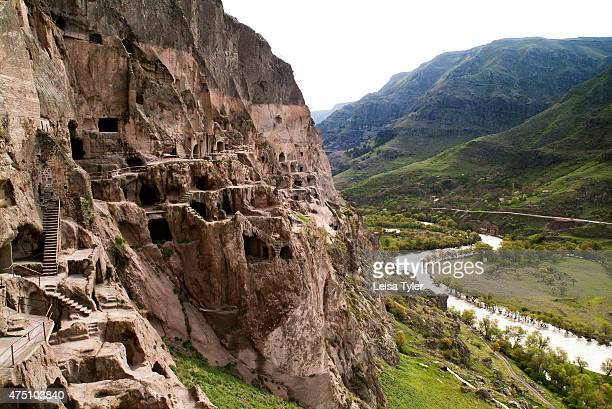 The cave city of Vardzia in the Mtkvari Valley in Georgia A 12th century monastery carved into the imposing face of Mount Erusheli Vardzia is one of...