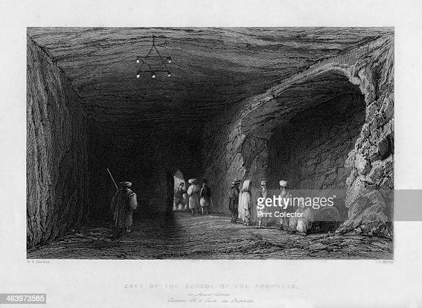 The cave of the school of the Prophets 1841 From Syria the Holy land and Asia Minor volume III by John Carne published by Fisher Son Co