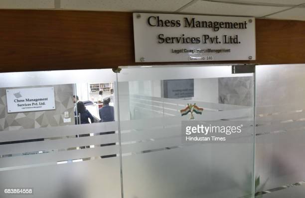 The CBI conducts raids at Karti Chidambaram's office in JMD Megapolis Sona Road on May 16 2017 in Gurgaon India The Central Bureau of Investigation...
