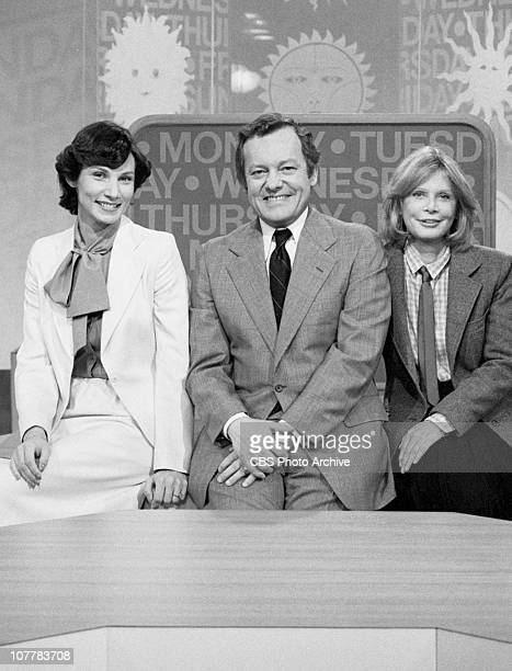 MORNING the CBS morning news program featuring meteorologist Valerie Voss anchor Bob Schieffer and commentator Chris Chase Image dated April 21 1980