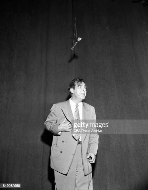 The CBS television variety show 'Toast of the Town' In this image actor Lon Chaney Jr performs a 'Of Mice and Men' sketch Image Dated August 29 1948...