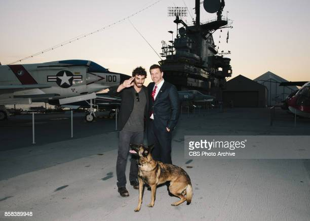 The CBS Veterans Network previews the Pilot of SEAL Team on The USS Intrepid Pictured L to R Justin Melnick David Boreanaz and Dita