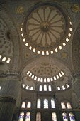 The ceiling of Blue Mosque, Turkey, Low Angle View