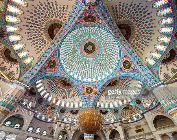 The ceiling of the beautiful Kocatepe Mosque