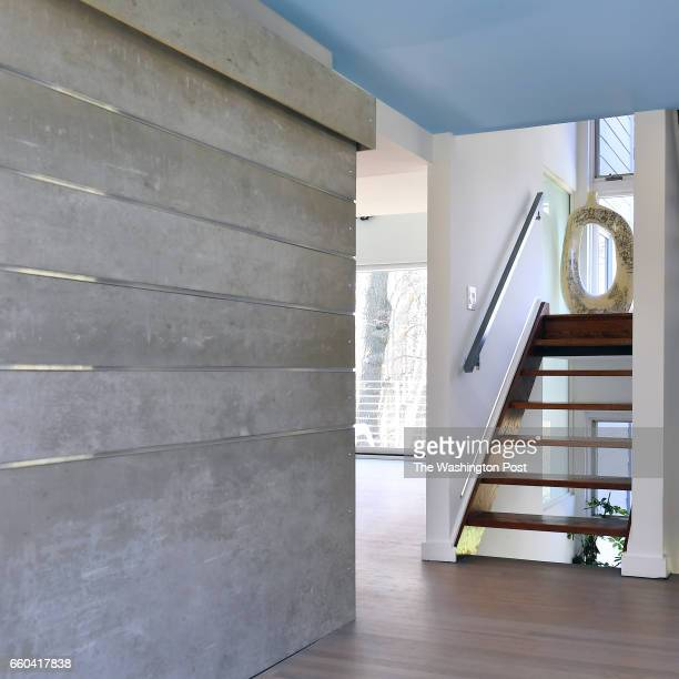 The ceiling of the foyer is painted a pale blue in the Coleman's home seen March 08 2017 in Reston VA