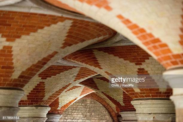 The ceiling of the Grade II listed Victorian Crystal Palace Subway that is hidden under the A212 road at Crystal Palace on March 23 2016 in London...
