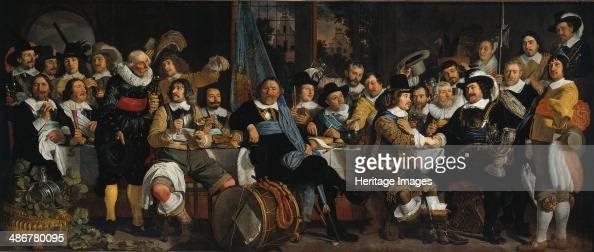 The celebration of the peace of Münster 18 June 1648 in the headquarters of the crossbowmen's civi Artist Helst Bartholomeus van der