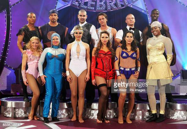 The celebrities taking part in this years Cirque de Celebrite Luke Bailey Dean Holdsworth Shane Lynch Ritchie Neville Kyal Marsh and Dwain Chambers...