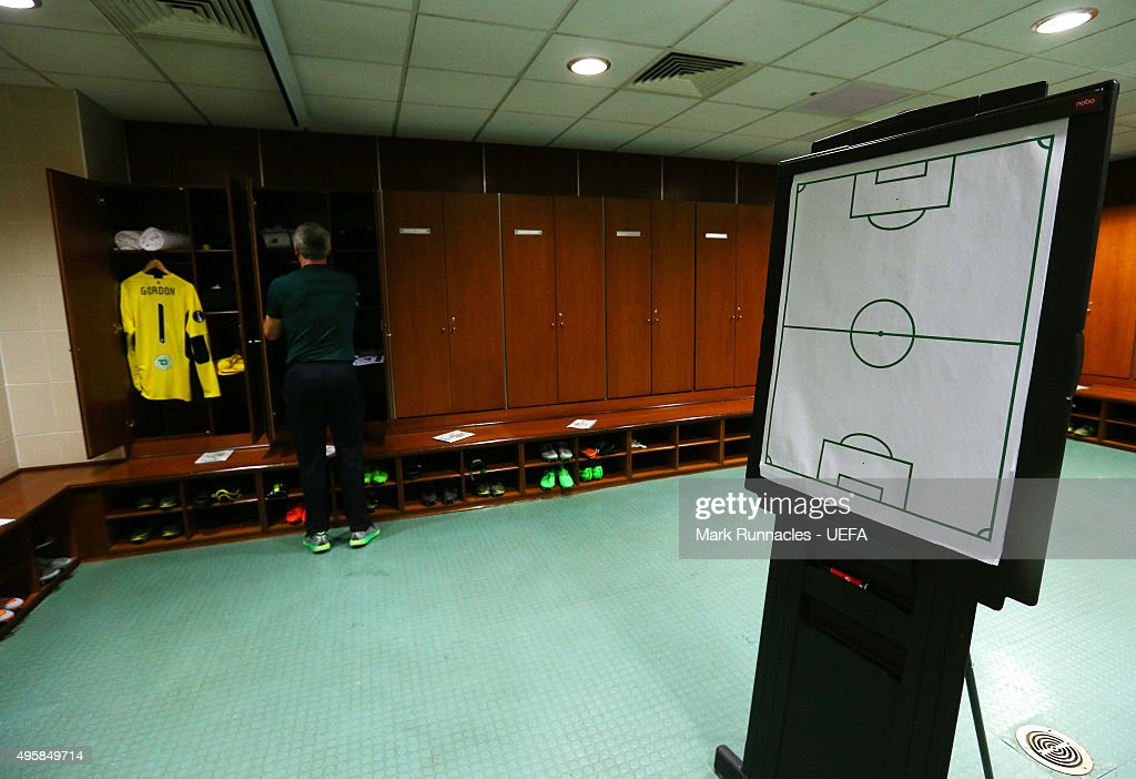 The Celtic dressing room ahead of kick off during the UEFA Europa League match between Celtic and Molde on November 5 2015 in Glasgow United Kingdom