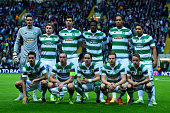 The Celtic team pose for a photograph during the UEFA Champions League Qualifying play off first leg match between Celtic FC and Malmo FF at Celtic...