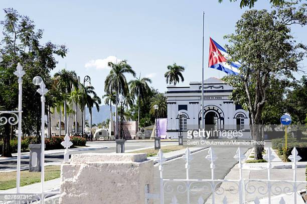 The cemetery entrance and the grave that holds the ashes of Cubas Revolution leader Fidel Castro at the Santa Ifigenia cemetary on December 4 in...