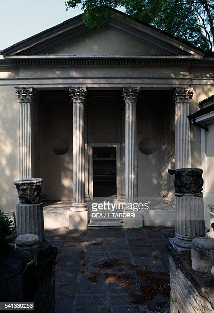 The cenotaph of the German art historian Johann Joachim Winckelmann Lapidary garden and Civic museum of history and art Trieste FriuliVenezia Giulia...