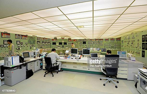 The central control room of No1 reactor of the Japan Atomic Power Co's Tsuruga Nuclear Power Plant is seen on June 15 2015 in Tsuruga Fukui Japan The...