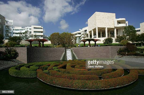 The Central Garden of the Getty Center is seen October 28 2005 in Los Angeles California The J Paul Getty Museums recently departed antiquities...
