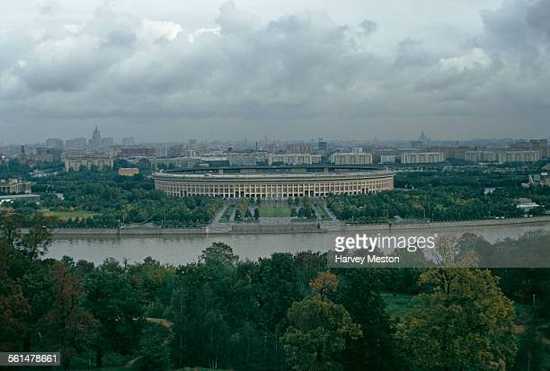 The Central Lenin Stadium later named the Luzhniki Stadium on the Moskva River in Moscow Russia 1973
