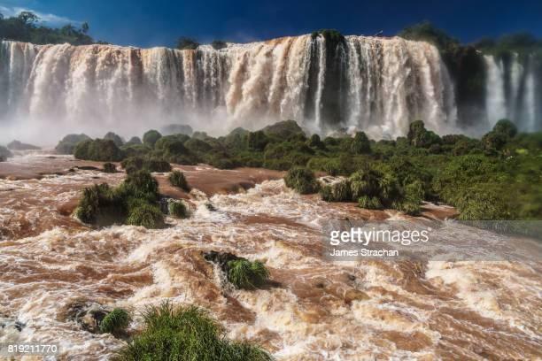 The centre of the Garganta del Diablo (Devil's Throat), Iguazu Falls (UNESCO World Heritage Site) from Brazilian side, Iguazu , Brazil