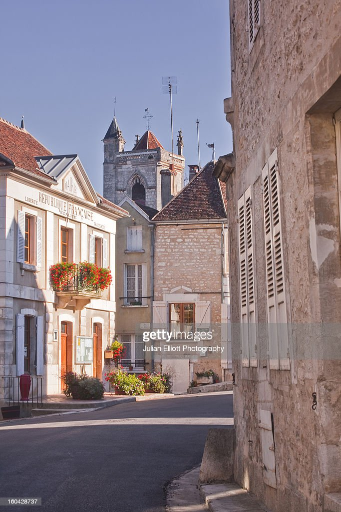 The centre of the village of Irancy. : Stock Photo