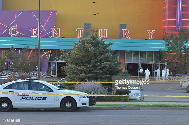 The Century 16 movie theatre is seen where a gunmen attacked movie goers during an early morning screening of the new Batman movie 'The Dark Knight...