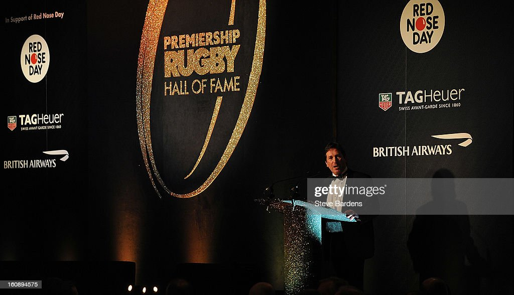 The CEO of Premiership Rugby Mark McCafferty speaks to guests during the inaugural Premiership Rugby Hall of Fame Ball at the Hurlingham Club on February 7, 2013 in London, England.