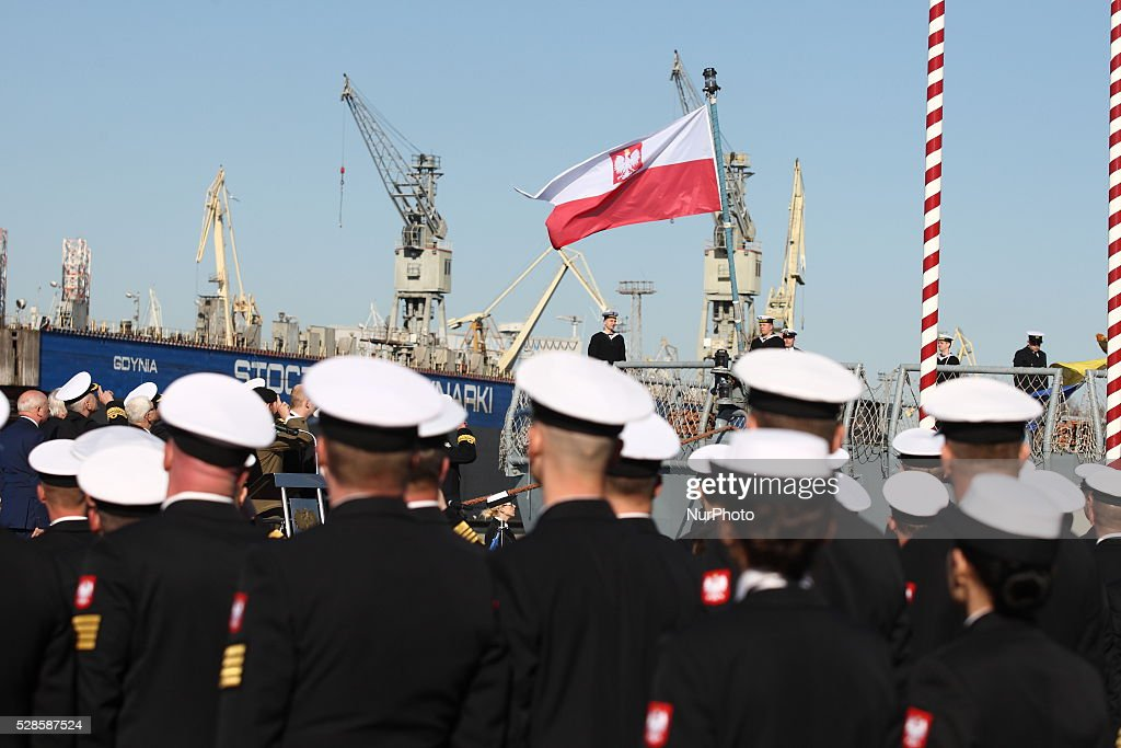 The ceremony of transfer of authority over 3rd Flotilla of Naval Ships in Gdynia to Commander Christopher Jaworski in Gdynia, Poland, on May 6, 2016.