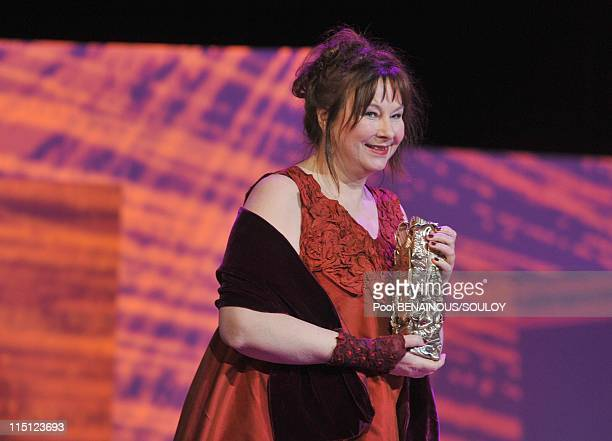 The Cesar Film Awards held at the Chatelet Theater part II in Paris France on February 27 2009 Actress Yolande Moreau speaks as she receives a Cesar...