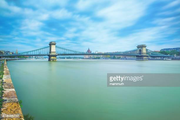 The Chain Bridge in Budapest, Hungary