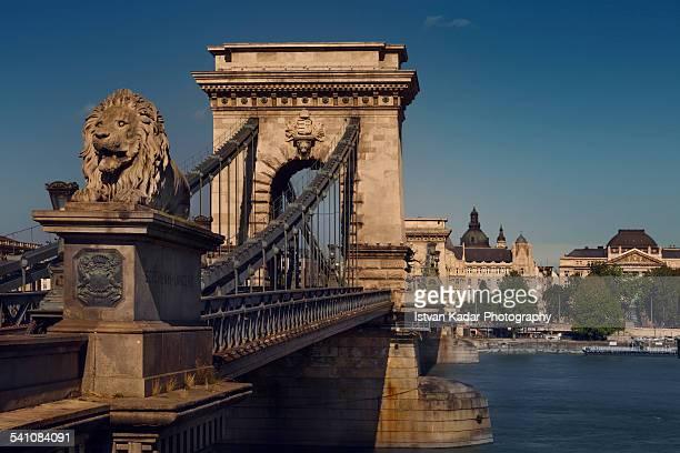 The Chain Bridge over the Danube River, Budapest