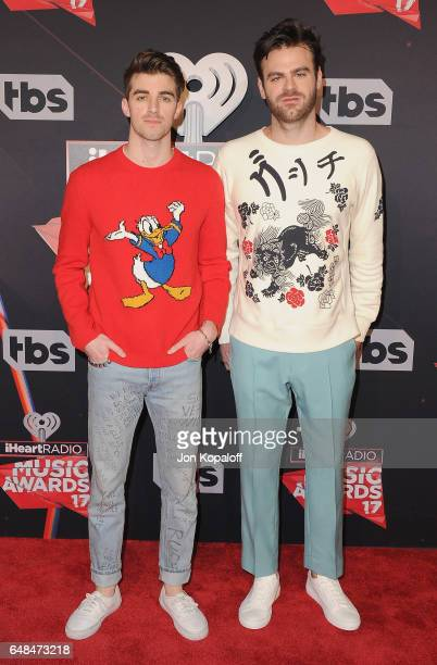 The Chainsmokers arrive at the 2017 iHeartRadio Music Awards at The Forum on March 5 2017 in Inglewood California