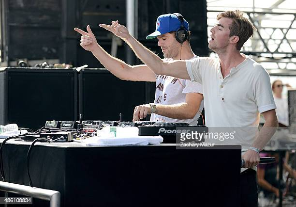 The Chainsmokers perform at Nikon at Jones Beach Theater on August 23 2015 in Wantagh New York