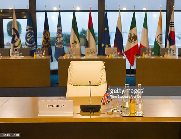 The chair for UK Prime Minister David Cameron at the G20 Summit in Cannes France 4th January 2011