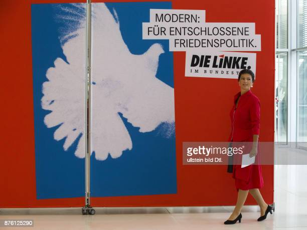 The Chair of Die Linke in the German Bundestag Sahra Wagenknecht informed about current positions of her party in a press statement on September 20...