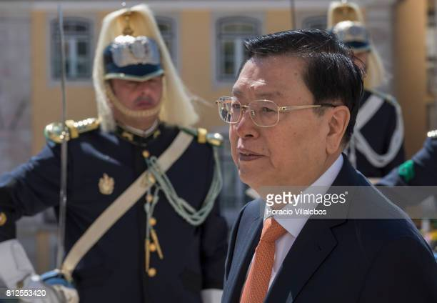 The Chairman of China's Standing Committee of the National People's Congress Zhang Dejiang is accompanied by the President of Portugal's Assembleia...