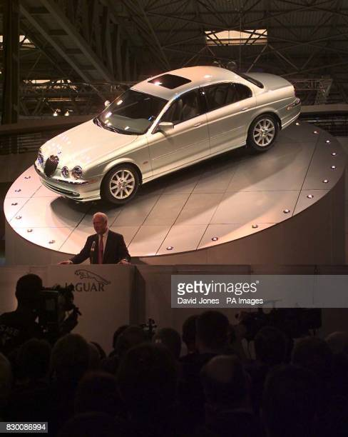 The Chairman of Jaguar Nick Shalor speaking during the launch of the new Jaguar 'S' class at the Motor Show at Birmingham's NEC today Photo by David...