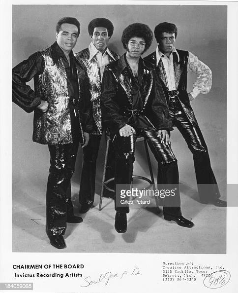 The Chairmen of the Board studio portrait USA 1970 The band includes General Johnson Danny Woods Harrison Kennedy Eddie Curtis