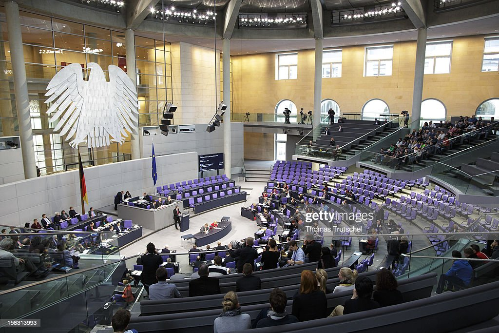 The Chamber of Reichstag, the seat of the German Parliament (Bundestag) is pictured on December 13, 2012 in Berlin, Germany.