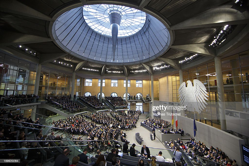 The Chamber of Reichstag, the seat of the German Parliament (Bundestag) is pictured on on January 22, 2013 in Berlin.