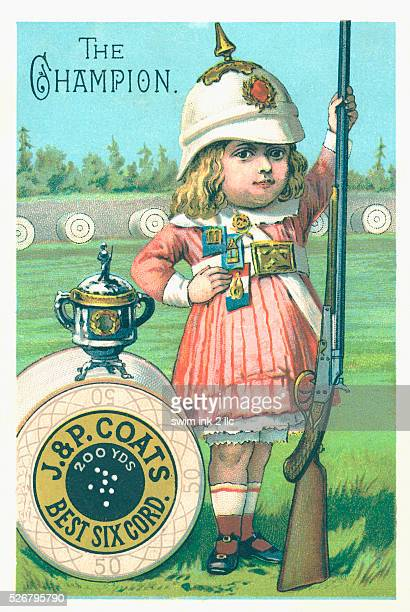 The Champion Victorian Trading Card for JP Coats Spool Cotton