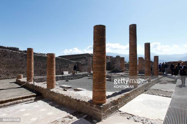 The Championnet Villa reopened after restoration in the archaeological area of Pompeii the ancient Roman town buried in 79 AD by the eruption of the...