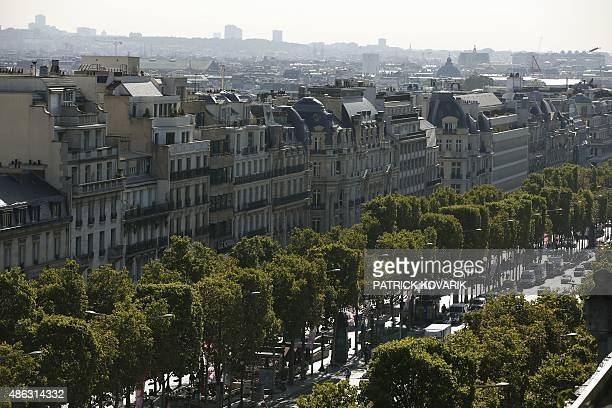The ChampsElysees avenue is pictured on September 3 2015 in Paris AFP PHOTO / PATRICK KOVARIK
