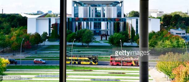 The Chancellery is pictured in Berlin on September 19 5 days before Germans head to the polls Germany goes to the polls for parliamentary elections...